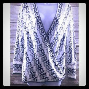 NIC+ZOE Black & White Knit Cardigan